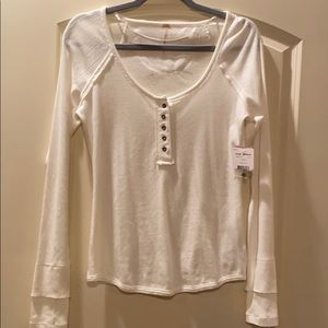 Free People Tops - Ivory long sleeve